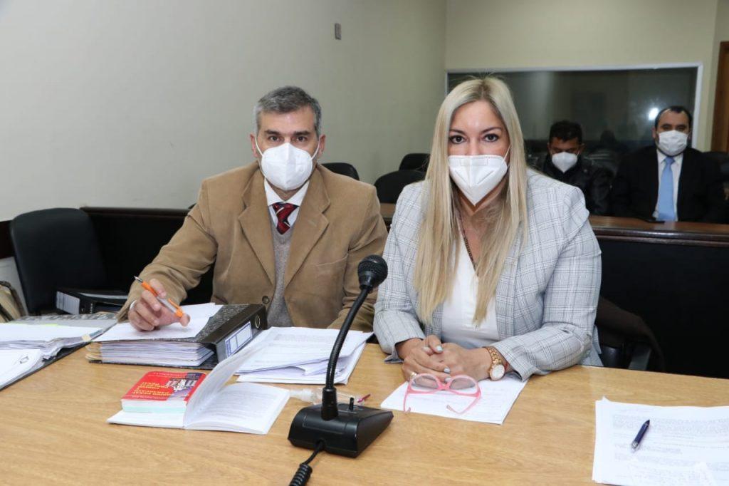 Diego Zilverbarg y María Estefanía González, representantes del Ministerio Público.